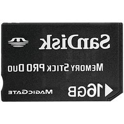 SanDisk 16 GB Memory Stick PRO Duo Flash Memory Card - Bulk