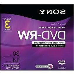 Sony 3DMW30R2HC 3-Pack 8cm DVD-RW with Hangtab