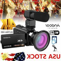WIFI 4K HD 48MP NIGHT SIGHT DIGITAL VIDEO CAMCORDER CAMERA D