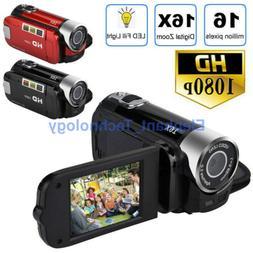 AA 1080P Camcorder Digital Video Camera TFT LCD 24MP 16x Zoo