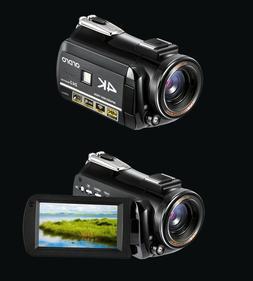 "ORDRO 4K 3.0"" LCD HD Digital Video Camera Camcorder DVR Touc"