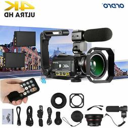 ORDRO AC3 4K WiFi Digital Video Camera Camcorder 24MP 30X +