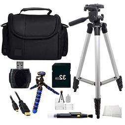 Accessory kit for Samsung F90 HMX-F90 Camcorder Includes 32G