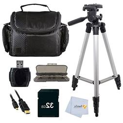 "Accessory kit for Samsung F90 HMX-F90 Camcorder with 2.7"" LC"