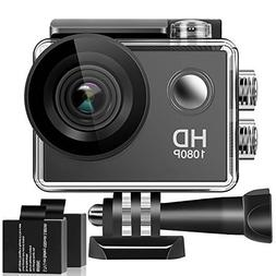Action Camera, 1080P HD Waterproof Sports Camera , 140 Degre