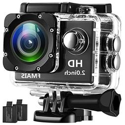 FMAIS Action Camera 2.0 Inch LCD Full HD 1080P Camcorder Und