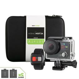 4K Sports Action camera Dual Screen Ultra HD 2 Battery + Rem