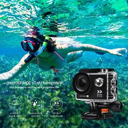 Action Camera, 4K WIFI Ultra HD Video Camera Waterproof DV R