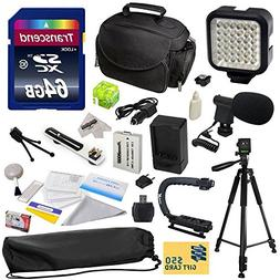 Advanced Accessory Kit for Canon HF R20 R21 R26 R27 R200 R20