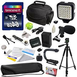 Advanced Accessory Kit for Canon VIXIA HF R52 HFR52, HF R50