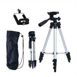 Aluminum Portable Camera Camcorder Tripod Stand w/ Phone Hol