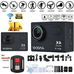 "Andoer AN6000 4K 16MP WiFi Action Sports Camera 1080P HD 2"""
