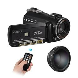 Andoer 4K UHD 24MP Digital Video Camera Camcorder DV Recorde