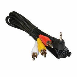 HQRP AV Cable for JVC GR-D22US GR-D244US GR-D250US GR-D270US