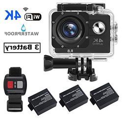 R.B N6 4K Action Camera WiFi Ultra HD Waterproof Sports DV C