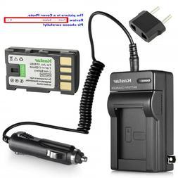 Kastar Battery AC Charger for JVC BN-VF808 BN-VF808U & JVC G