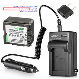 Kastar Battery AC Charger for Panasonic VW-VBG130 VDR-D210 V