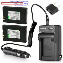 Kastar Battery AC Travel Charger for IA-BP80W & Samsung SC-D