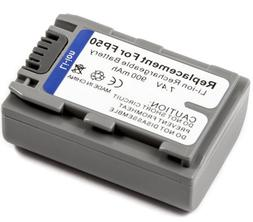 Battery for Sony NP-FP50 Handycam DCR-HC26E DCRHC26 DCR-HC26