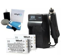 2 Pack Battery And Charger Kit For Toshiba Camileo X100 H30