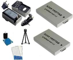 2 Pack Battery And Charger Kit Includes Two Extended Replace