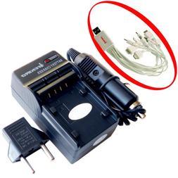 iTEKIRO AC Wall DC Car Battery Charger Kit for DXG DXG-588V