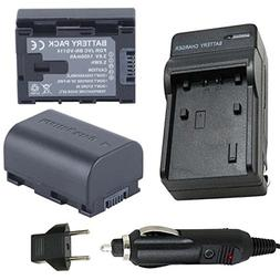 Battery  and Charger for JVC Everio GZ-HM320BU, GZ-HM30BU, G