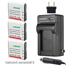Kastar 3x Battery + Charger for Casio NP-40 LB-060 & Casio E