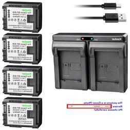 Kastar Battery Dual Charger for Canon BP-808 CG-800 Canon XA