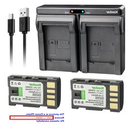 Kastar Battery Dual Charger for JVC BN-VF808 BN-VF808U & JVC