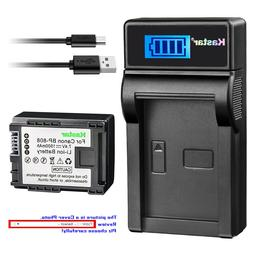 Kastar Battery LCD Charger for Canon BP-808 CG800 Canon VIXI