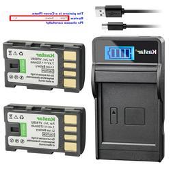 Kastar Battery LCD Charger for JVC BN-VF808 BN-VF808U &JVC G