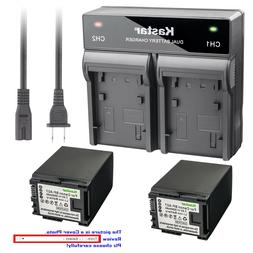 Kastar Battery Rapid Charger for Canon BP-827 CG-800 & Canon