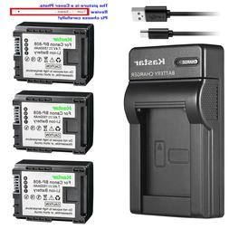 Kastar Battery Slim Charger for Canon BP-808 CG-800 Canon VI