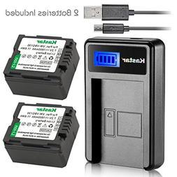Kastar Battery  & LCD Slim USB Charger for Panasonic VW-VBG0