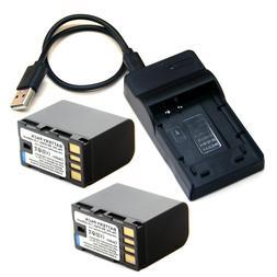 Battery / USB Charger For JVC BN-VG815 BN-VF815 BN-VF815U BN
