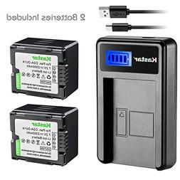 Kastar Battery  & LCD USB Charger for Panasonic CGA-DU14 and