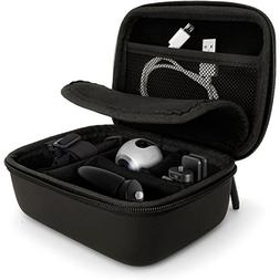 iGadgitz Black EVA Carrying Hard Travel Case Cover with Carr
