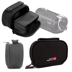 Compatible with The Canon LEGRIA Mini X Camcorder DURAGADGET Black Neoprene Lightweight Zip-Locked Camcorder Carry Case