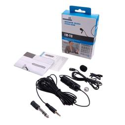 BY-M1 Condenser Lavalier Clip-on Microphone for Phone Camera