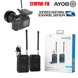 BOYA BY-WFM12 12CH Wireless Audio VHF Microphone for DSLR Ca