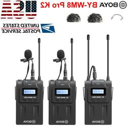 BOYA BY-WM8 Pro-K2 UHF Wireless Microphone Audio Recorder fo