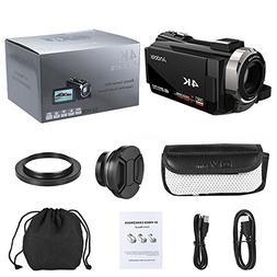 Video Camcorder, Andoer 4K Digital Video Camera 48MP 2880 x