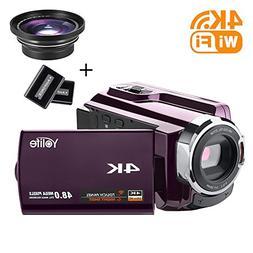 Camcorder,Yolife 4K Ultra HD Digital Video Camera Recorder w