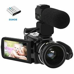 Video Camera Camcorder ORDRO 3.1'' IPS Touch Screen WiFi