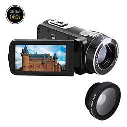 Camcorder 1080p @30fps Video Recorder 24.0MP Digital Camera