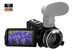 Camcorder Full HD 1080p 30fps Video Camera Support Shotgun M