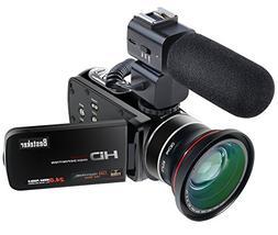 Camcorder,Besteker 1080P 30FPS Wifi Camcorders with External