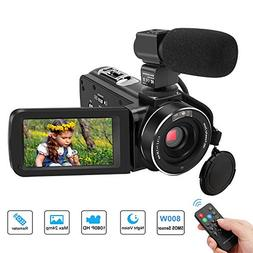 Video Camera Camcorder, Aitechny Camera Camcorder Full HD 10