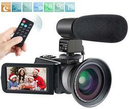 Camcorder,Besteker 1080P Video Camera IR Night Vision Full H